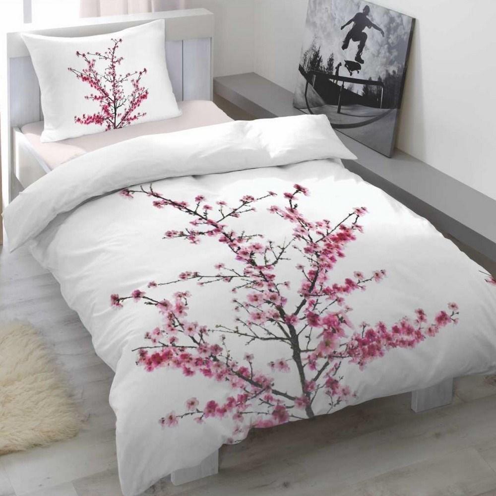 5ff6c78a28 Cherry blossom szatén ágyneműhuzat, 140 x 200 cm, 70 x 90 cm ...