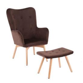 Fotel ülőkével bézs anyag/tölgy LAGER