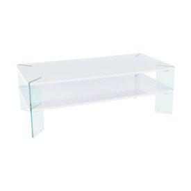 Dohányzó asztal fehér HG fénnyel/fehér