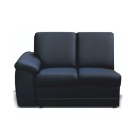 2- személyes kanapé támasztékokkal és rakodótérrel