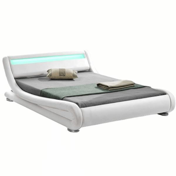 Modern ágy RGB LED világítással