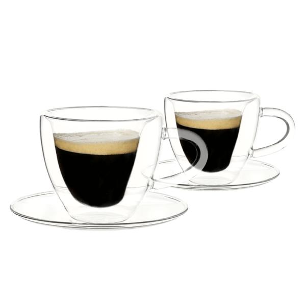 Thermo Heart csésze pohár csészealjakkal
