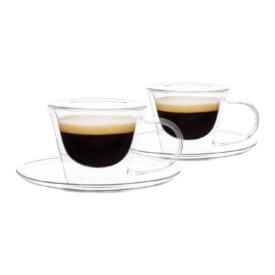 Thermo espresso csésze  pohár csészealjakkal