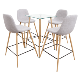 Étkezőgarnitúra asztal/négy szék
