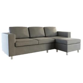 3-személyes kanapé puffal
