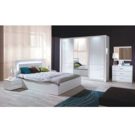 Hálószoba garnitúra (Szekrény+Ágy 160x200+2x éjjeliszekrény)