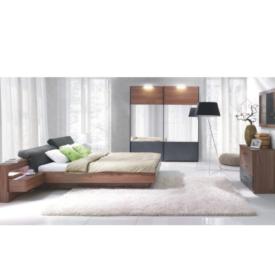 Hálószoba garnitúra (Szekrény+Ágy 160x200 2 éjjeliszekrénnyel)