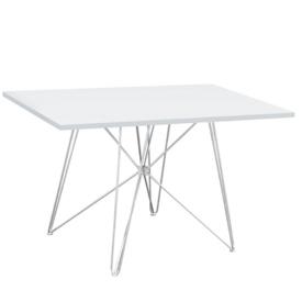 Étkezőasztal MDF/fehér/HG fény