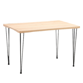 Étkezőasztal világos bükk/fekete