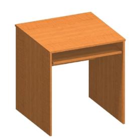Íróasztal kihúzható billentyűzettartóval